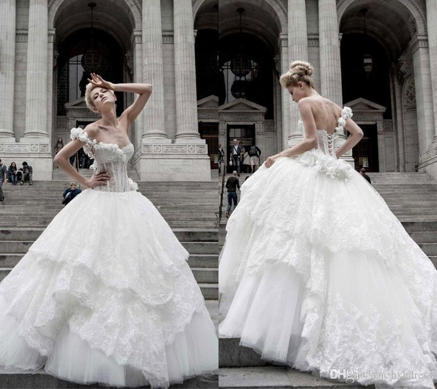 Pnina Tornai 2019 Wedding Dresses: 2019 New Pnina Tornai Ball Gown Wedding Dresses Lace