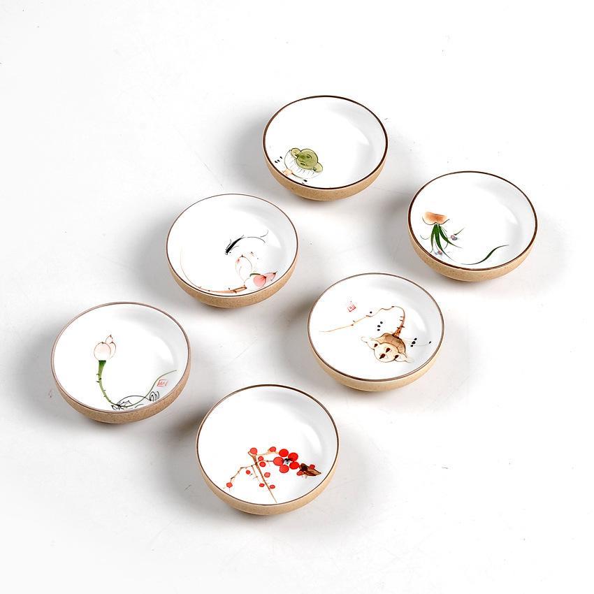2020 Drinkware Chinese Kung Fu Tea Set Teacup cups Handpainted Ceramic Porcelain for puer Oolong Tea Plum/lotus/goldfish Ceramic Cup