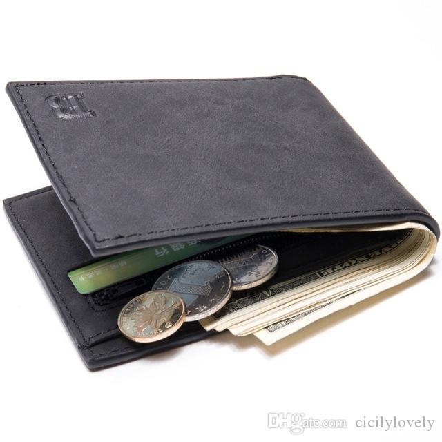 Лучшие кошелек Роскошные Кошелек Тонкий Короткие мужские Мини деньги Тонкий Симпатичные кожа Малый кошелек высокого качества, Мужчины бумажники