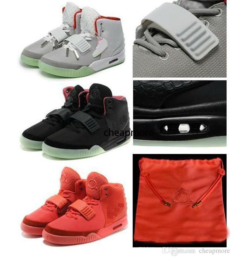 Оптовая продажа горячая распродажа Канье Уэст 2 Красный НРГ красный розовый баскетбол обувь мужчин бесплатная доставка онлайн