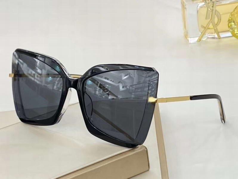 Солнцезащитные очки 0766 Солнцезащитные очки GIA Box Черно-серые Линзы Солнцезащитные очки негабариты WTH 766 De Sonnenbrille Женщины так бабочка Новая мода Gafas LGLWC