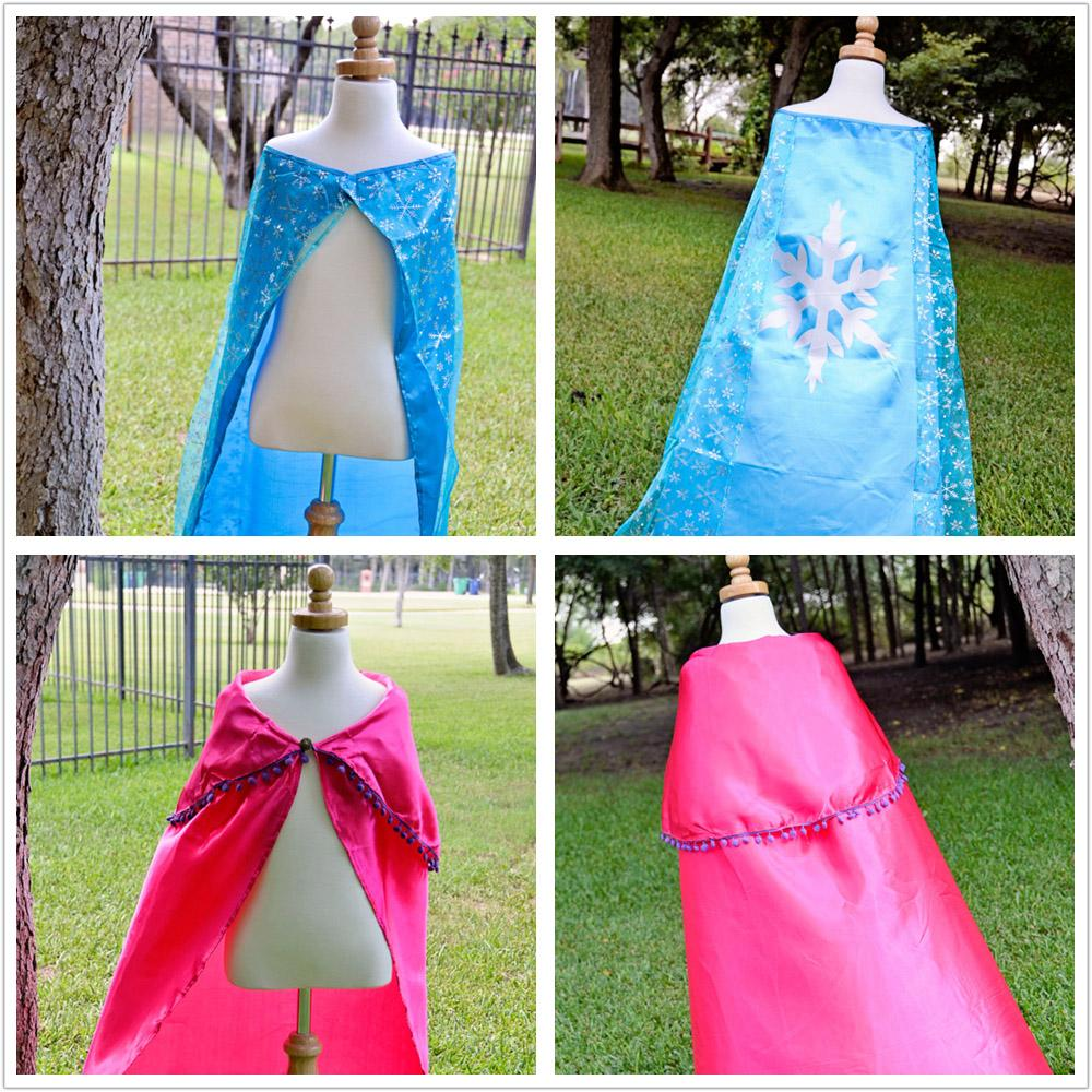 Girls Womens costume Cape Cloak Princess Anna party dresses cosplay