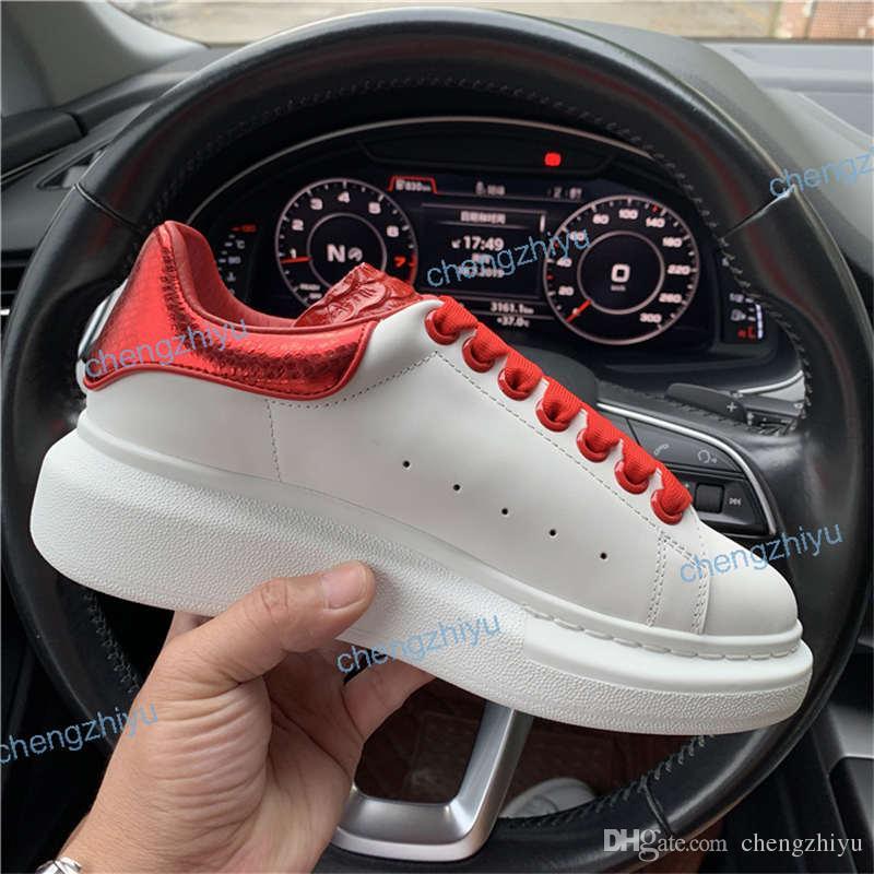 2020 superiore Nero Rosso Bianco Blu Piattaforma Clsassic pattini casuali in pelle Serpentine scarpe casuali abito di tela scarpe da tennis sport delle donne