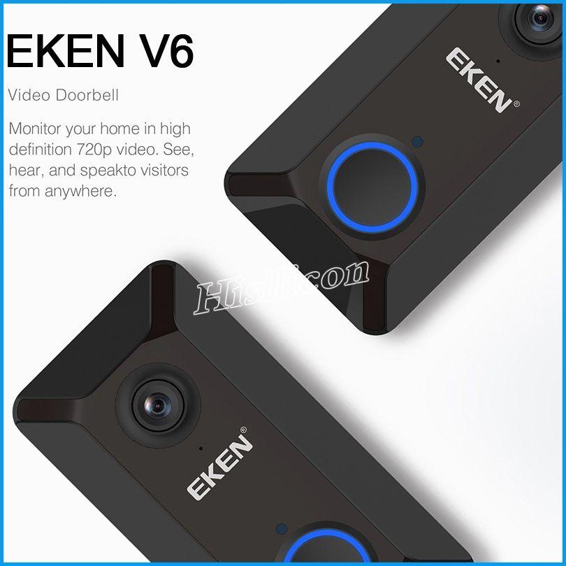 أحدث EKEN V6 الذكية اللاسلكية 720 وعاء واي فاي فيديو جرس الباب كاميرا سحابة تخزين الباب جرس كام المنزل الأمن منزل جرس مع مربع التجزئة رخيصة