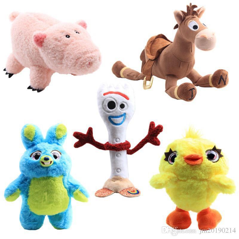 Hot Forky Bunny coniglio maiale cavallo anatra peluche per i bambini migliori regali 17-30cm 5pcs / lot