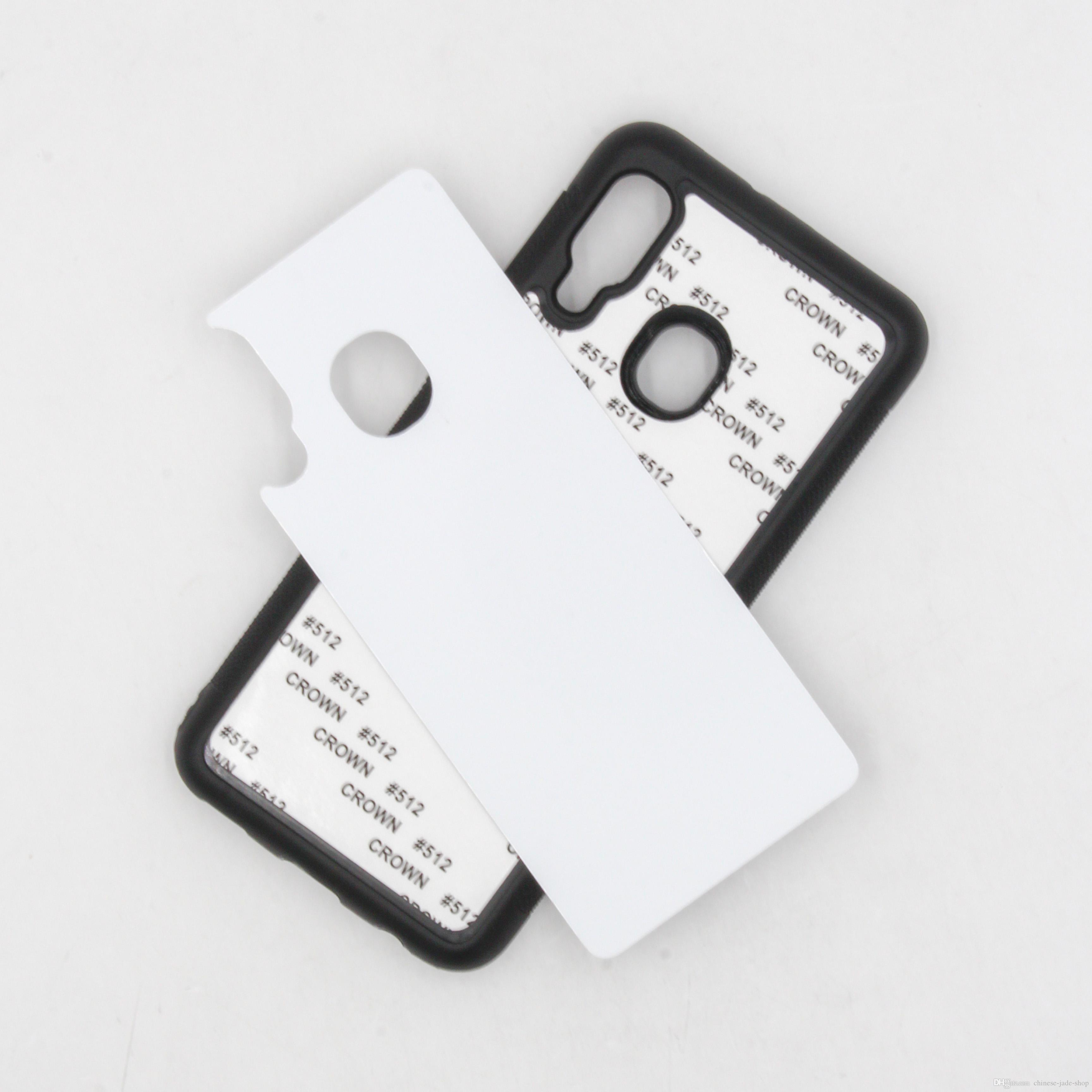 Rubber TPU DIY Sublimatie Case met aluminium metalen lijm voor Samsung Galaxy A10S A20S A10E A20E S10 5G A60 100PCS / PARTIJ