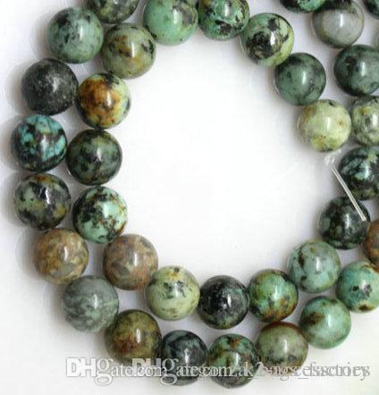 189 pçs / lote 6 mm grânulos Africano turquesa pedra redonda solta contas semi-preciosas pedras preciosas naturais diy fazendo jóias