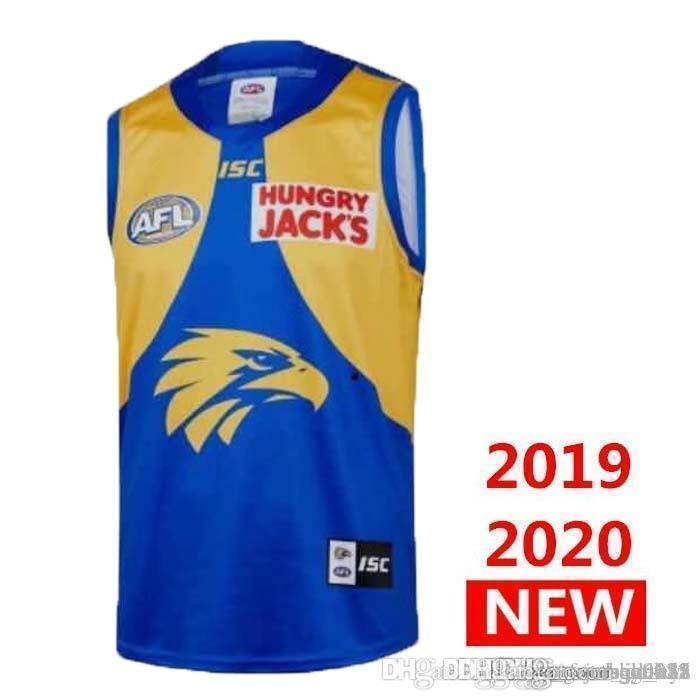 2019 costa oeste de las águilas INICIO Rugby jerseys AFL costa oeste Eagles Jersey singlete Liga camisa del chaleco de s-3xl