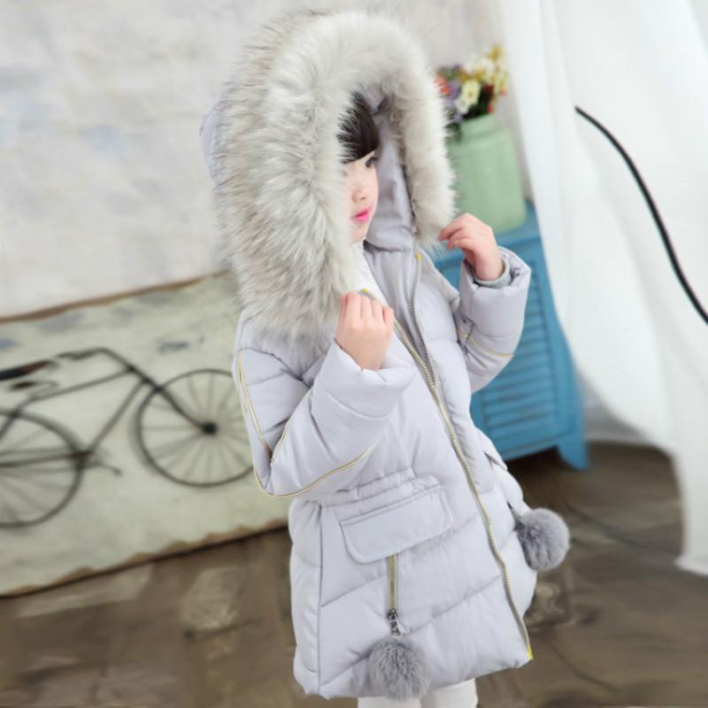 بانخفاض سترة فتاة الشتاء 2019 الفراء بنات معطف الطفل الروسي في فصل الشتاء سترة للبنات في سن المراهقة الدافئة مقنع سميكة المحشوة بالقطن