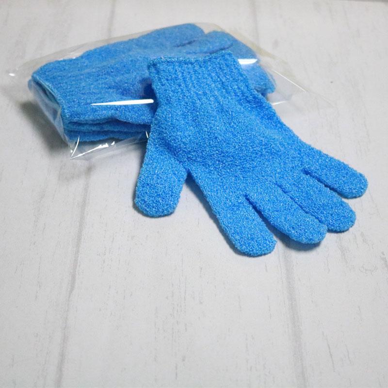 500pcs escova corpo esponja banho desengordurante luvas de banho de lavagem nylon volta esfrega cinco dedos luvas chuveiro Spa