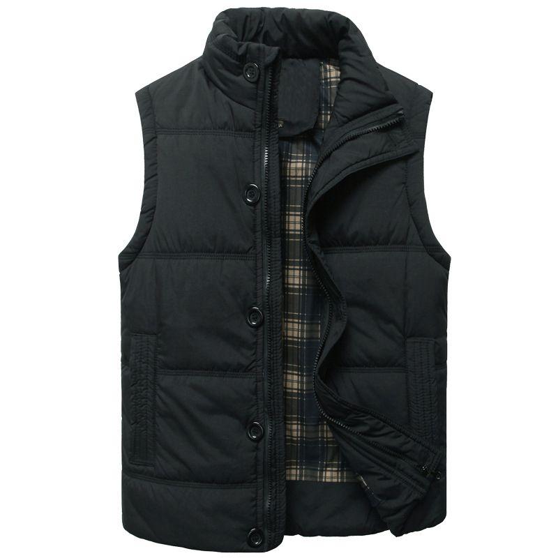 Хороший мода прилив осень мужчины жилет зима без рукавов куртки и пиджаки M-XXL
