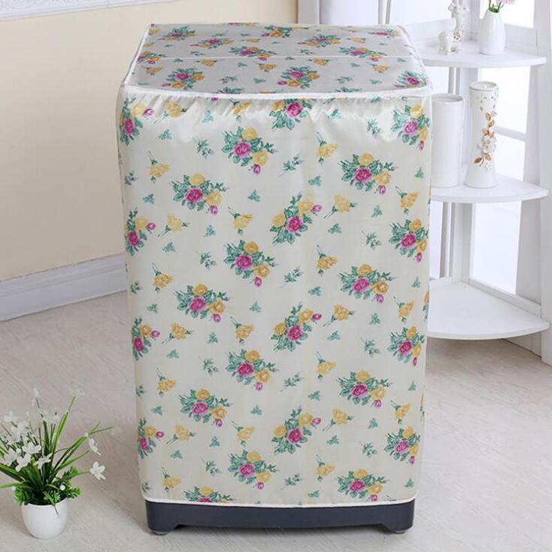 Çamaşır Makinesi PVC toz geçirmez Kapak Su Geçirmez Kasa Çamaşır Makinesi Koruyucu Kumaş Ceket Ev Aksesuarları