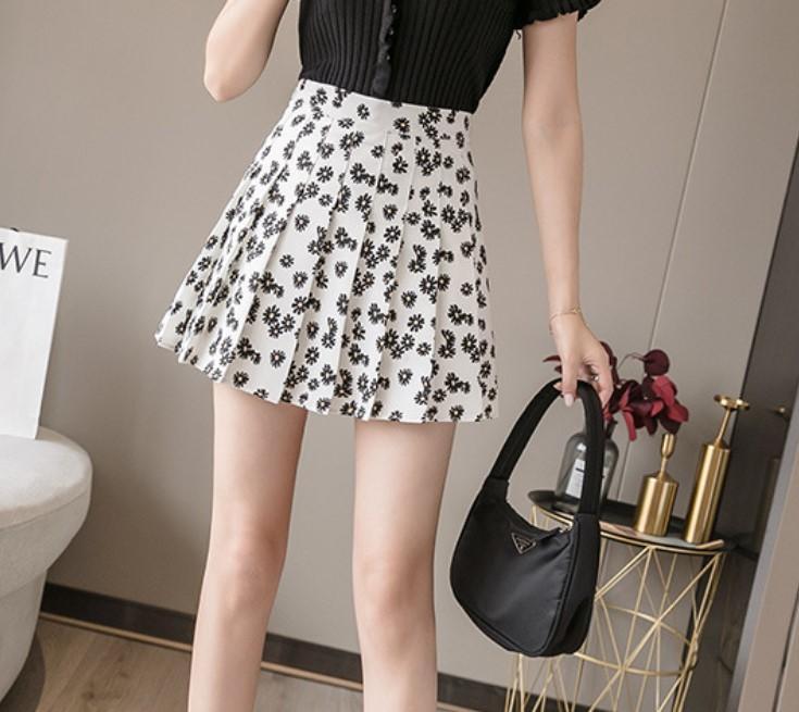 2020 Boho Çiçek A-Line Etekler Kadınlar Yüksek Bel Etek Vintage Leopar Yaz Etek Kore Giyim Seksi Mini Etek Streetwear