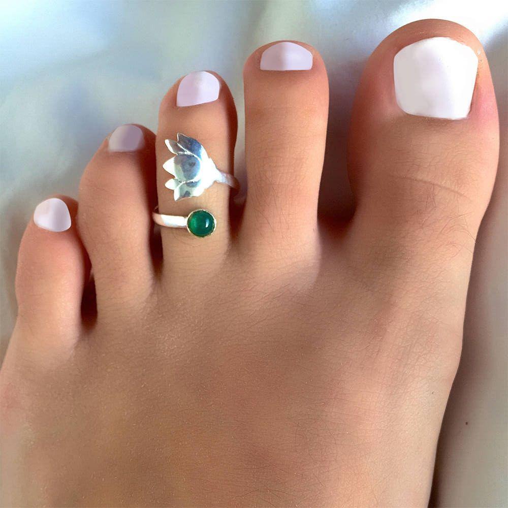 Vintage Silver Finger Foot Toe Ring Adjustable Boho Women Retro Fashion Jewelry