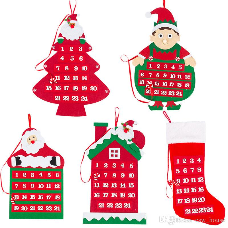 Lockscreen Takvim Sigara Dokuma Kumaş Noel Noel Baba Takvimler Yumuşak Duvar Asma Takvim Merry Christmas Süsleri