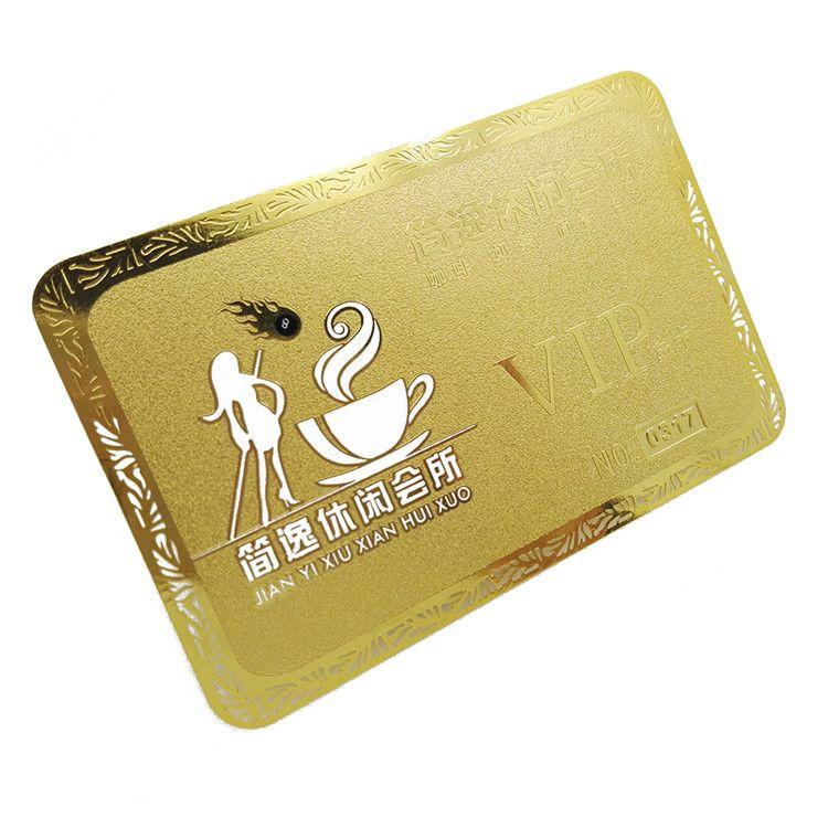 Großhandel Fabrik Direkt Aushöhlen Gold Metall Visitenkarte Gold Edge Visitenkarte Vergoldete Visitenkarte Customized Design Von Hellen8599 115 58