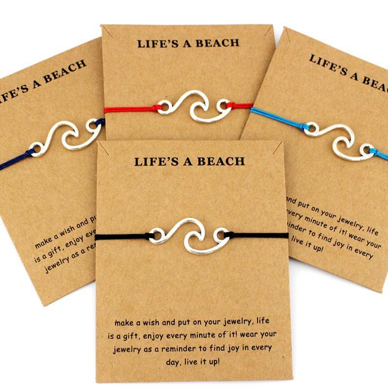 Sommer Mode Ozean Stil Strand Meer Spray Welle Charme Schmuck Machen Sie eine Silber Gold Welle Armbänder Für Frauen