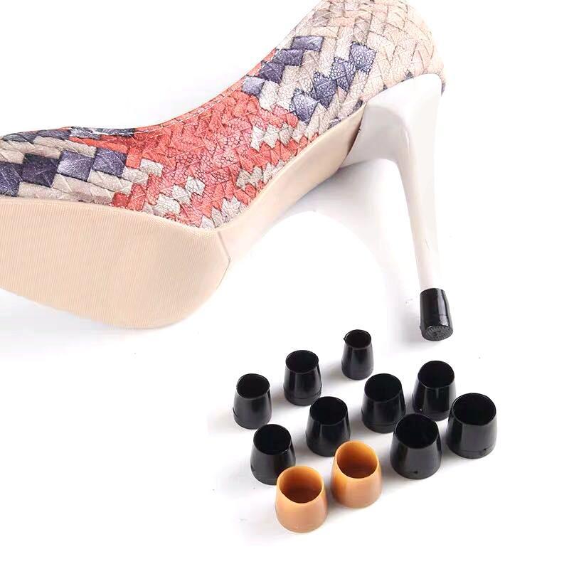 32 pares (XS, S, M, L) de alta Heeler América estilete Cubiertas baile del talón tapones de silicona antideslizante del tacón alto del banquete de boda Protectores