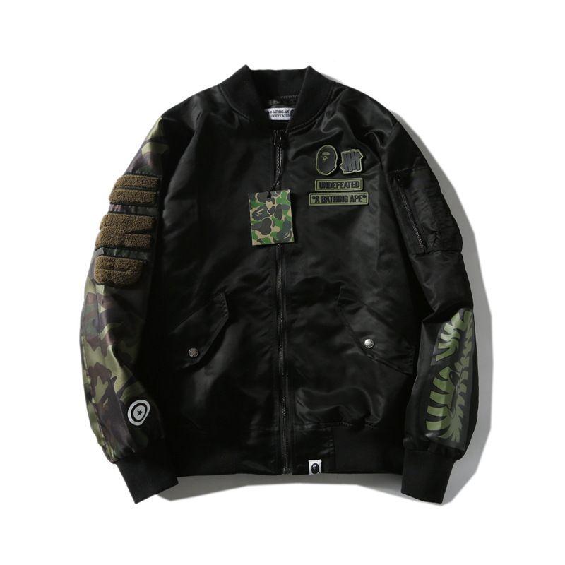 Schwarz Camo Polyester Stickerei Windjacke Liebhaber Mode Strickjacke Reißverschluss Loosel Jacken Größen