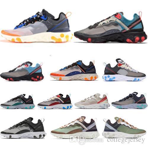 2019 Yeni Spor Spor ayakkabılar Ayakkabı Koşu Eleman 87 Undercpver X Yaklaşan Erkekler Moda Lüks Tasarımcı Kadınlar Ayakkabı Tepki