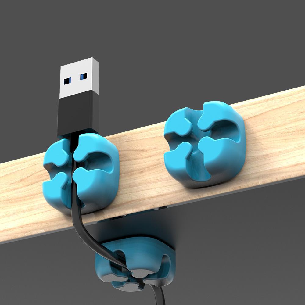 Aksesuar Parçaları Sarıcı Orico Renkli Masaüstü Klip Kablo Sarıcı Tel Organizatör HDMI Veri USB Kablosu Kordon Tutucu Yönetimi Tel