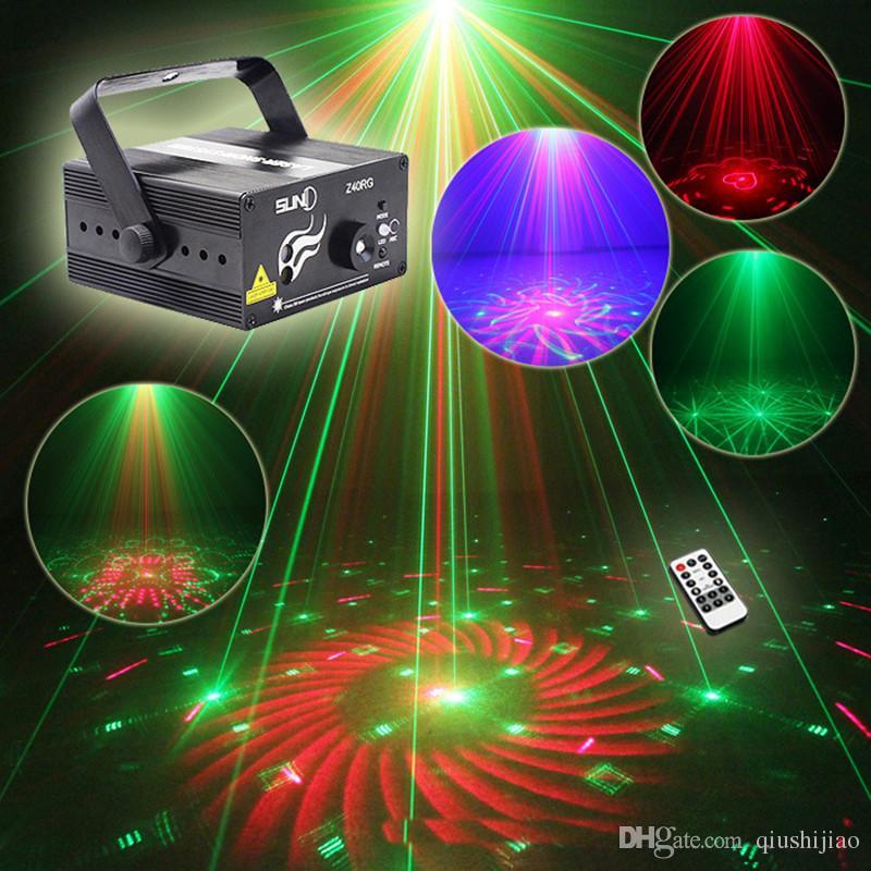 مصغرة بقيادة rg الرئيسية المرحلة إضاءة تأثير 40 أنماط ستار العارض الليزر مع أضواء لوميير ديسكو النائية dj حزب المرحلة ضوء 110 فولت -240 فولت
