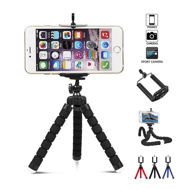 ellphones & Telecommunications Flexible Tripod Mini Universal Mobile Cell Phone Holder Octopus Tripod Supports Clip Digital Camera Stand ...