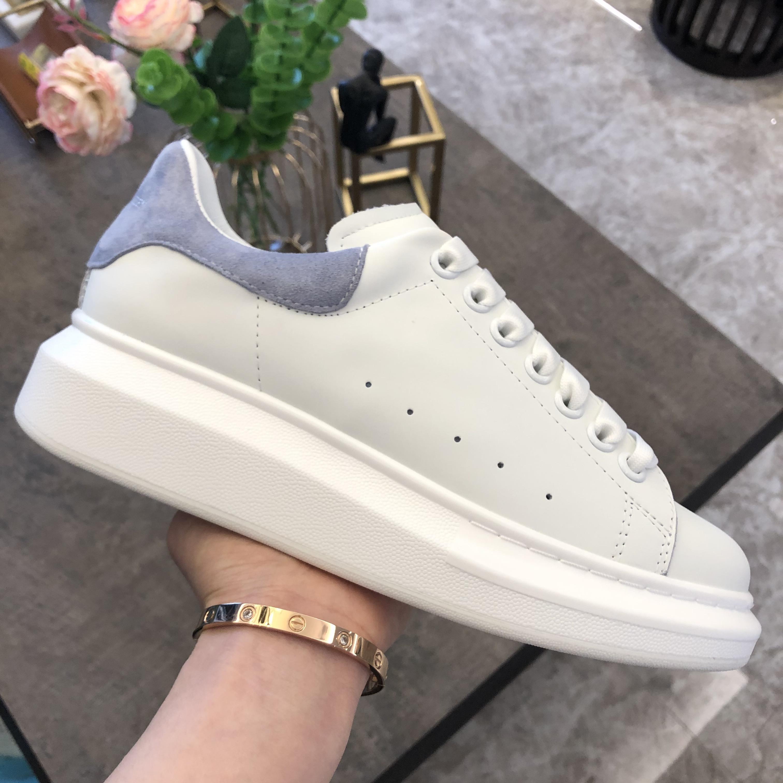 2020 Top Casual Shoes Mens Womens scarpe da tennis bianche della piattaforma del cuoio scarpe piane Chaussures De Sport Zapatillas Suede Sneakers