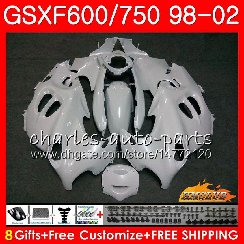 Corps de Suzuki Katana GSX600F GSXF750 Perle Blanc 1998 1999 2000 2001 2002 2HC.37 GSXF 750 600 GSX750F GSXF600 98 99 00 01 02 Kit de carénage