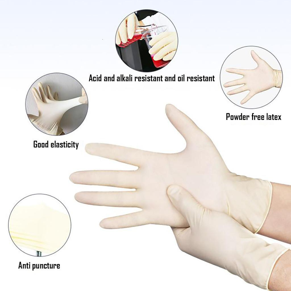 Gloves 100 Rubber Pieces Disposable Household Thickened Nitrile Gloves Latex Cleaning Household Gloves Dropshipping