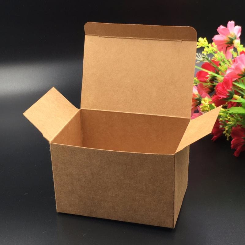 30pcs 9 * 6 * 6cm caixas Kraft presente de papel de embalagem caixas de armazenamento favor de partido Casamento Caixa para doces \ bolo \ Jóias \ presente \ de chocolate \ partido