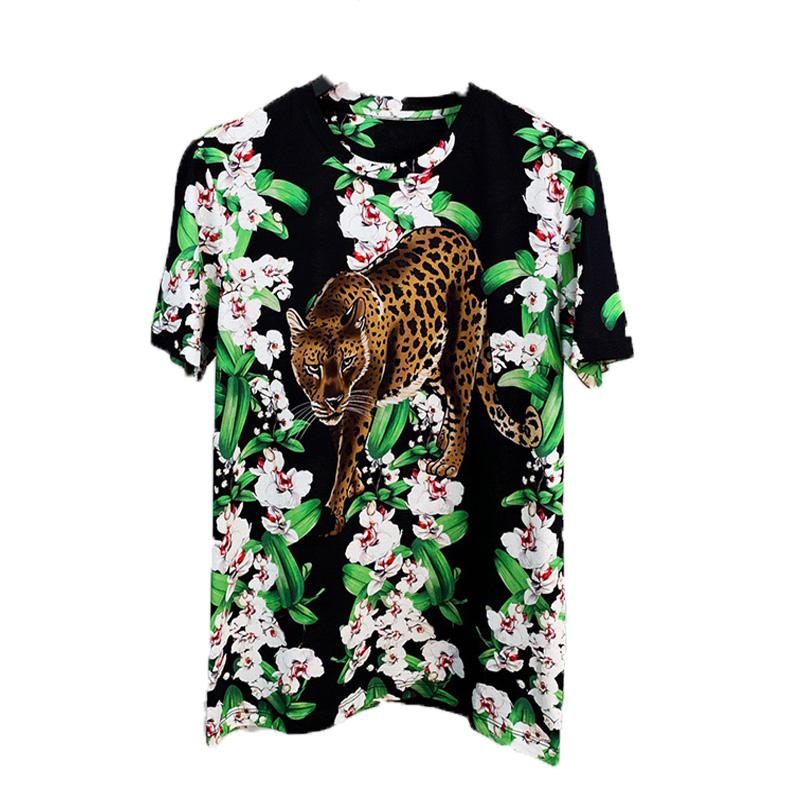 Sleeve Fashion Men Mens Shirt New Arrival Designer S-2XL T Quality Short Women Print Casual Leopard 2020 High Flowers Viaxw