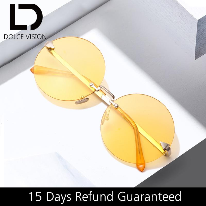 الجملة الأصفر عدسة نظارات أنثى جولة ريترو بدون شفة ظلال oculos السيدات أزياء السهم خمر النظارات للنساء