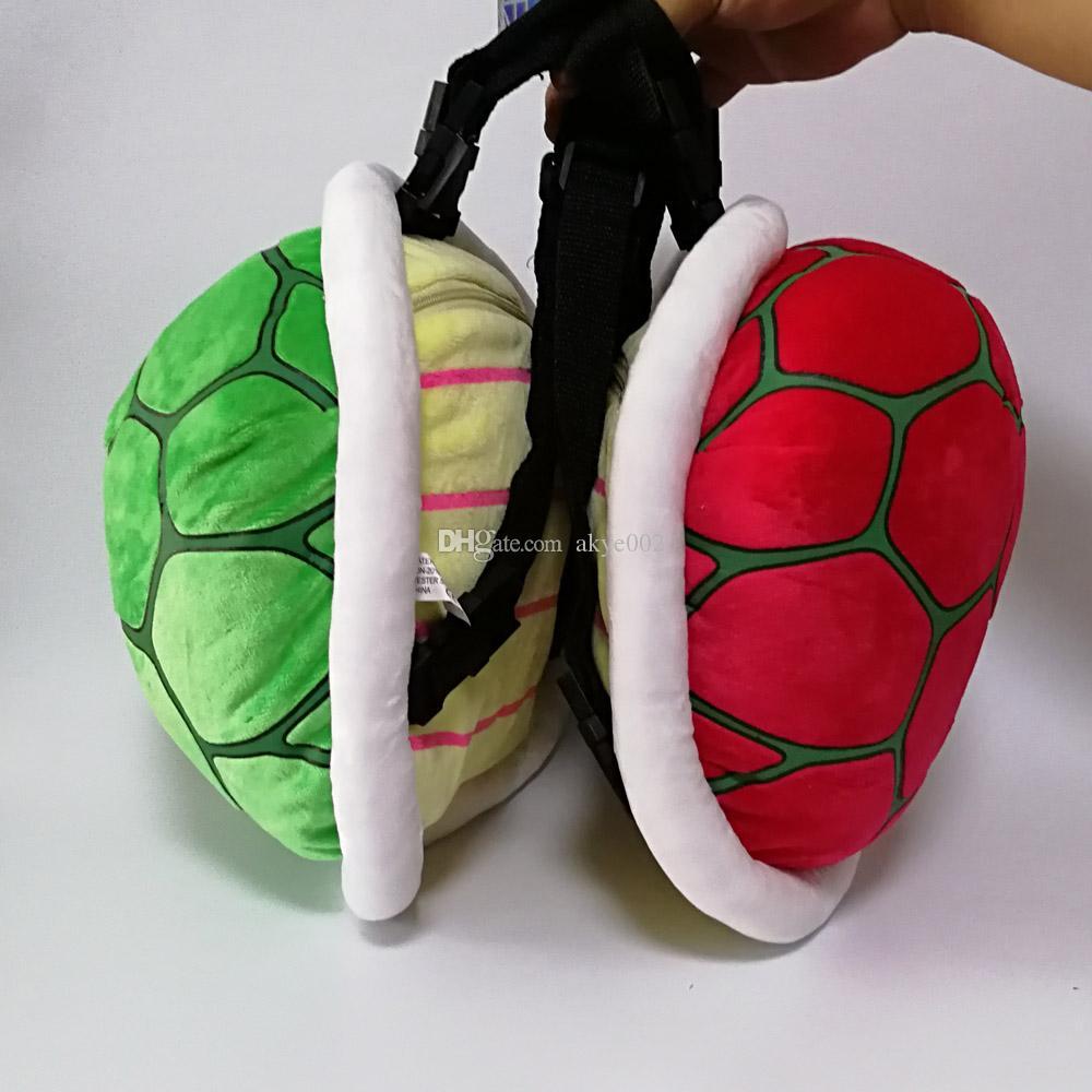 New Super Mario Bros Koopa Troopa Turtle Plush Backpack Soft Stuffed Animal Bag