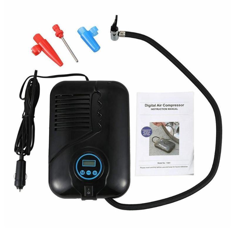 Car Compressor Tire Inflatable Pump Plastic Digital Display Air Compressors Auto Digital Electric Tyre Inflator 1 Set