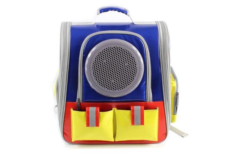 portador del animal doméstico portátil de fábrica al por mayor nuevo espacio de color a juego mochila portátil de viaje para mascotas perro gato conveniente mochila en el pecho