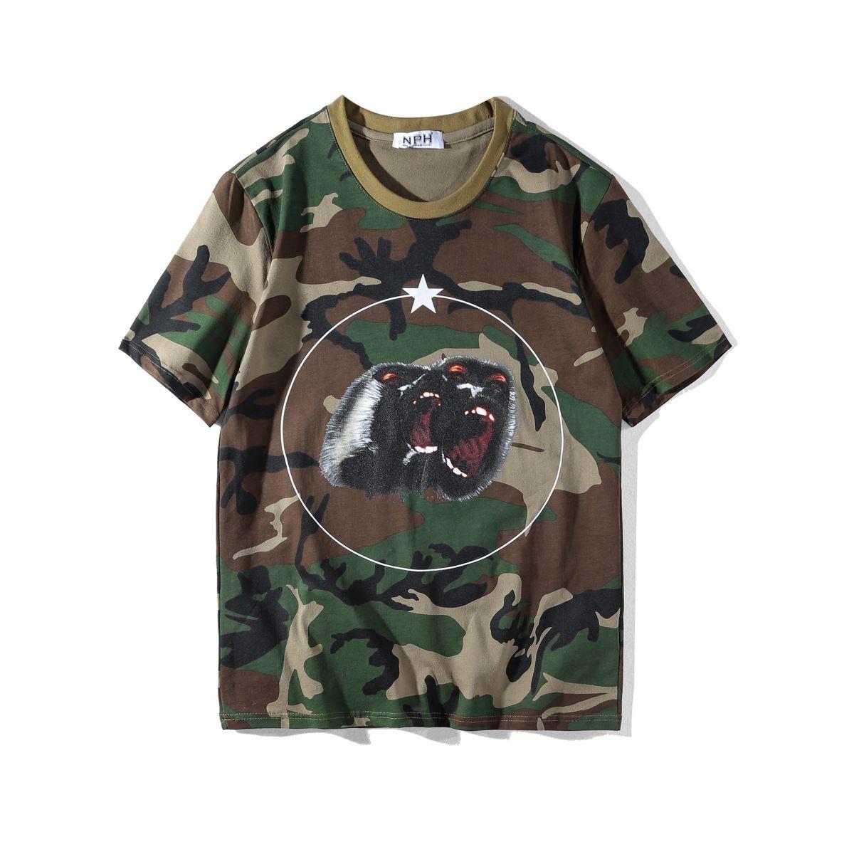 Lujo camisetas del verano para hombre de marcas de diseño de moda camiseta de los hombres Camiseta de las mujeres Hip Hop Tamaño rugido orangután mono de manga corta S-XXL