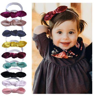 DIY Baby Kids Girls Hair Accessories Turban Knot Headband Bow Rabbit Ears Head Wrap Head Scarves Headwear 20pcs
