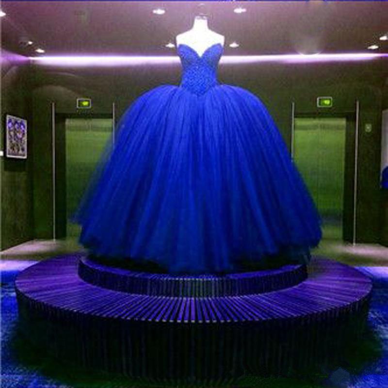Luxe Vrai Image Robe de bal de balle senior Quinceanera Robe Sweet 16 Robes Robe Royal Blue Rouge De Dream Robes De Robe De Bridale Tutu