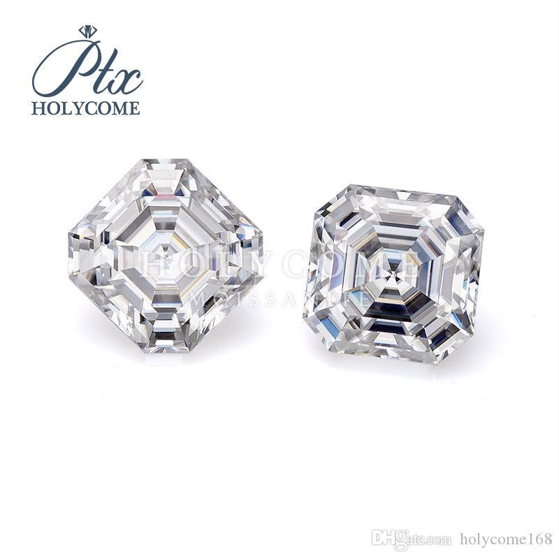 laboratoire de gros bijoux de haute qualité de la vente directe de croissance pas cher coupé DE 7x7mm blanc Asscher pierres précieuses diamant lâche moissanite