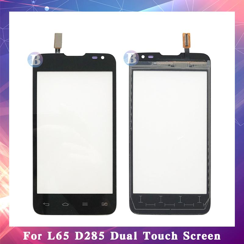 """10 قطعة / الوحدة جودة عالية 4.3 """"ل lg سلسلة الثالث l65 d280 d280n / l65 d285 المزدوج شاشة اللمس محول الأرقام الاستشعار الخارجي زجاج عدسة لوحة"""