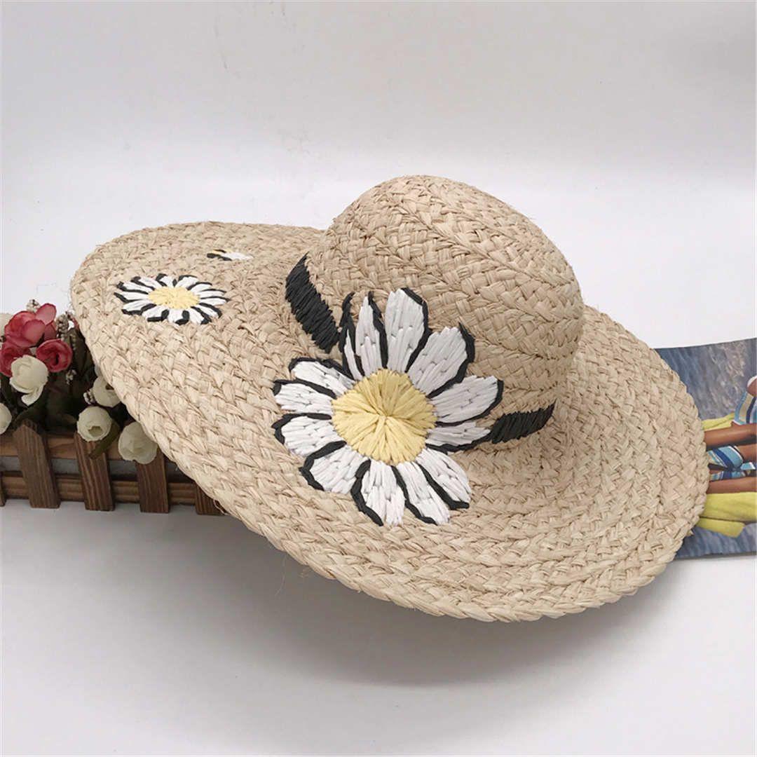 ديزي شاطئ كاب الصيف شارع الأزياء القبعات قبعة صغيرة للمرأة قبعات قابل للتعديل إمرأة ديزي هات 2 نماذج عالية الجودة الأعلى