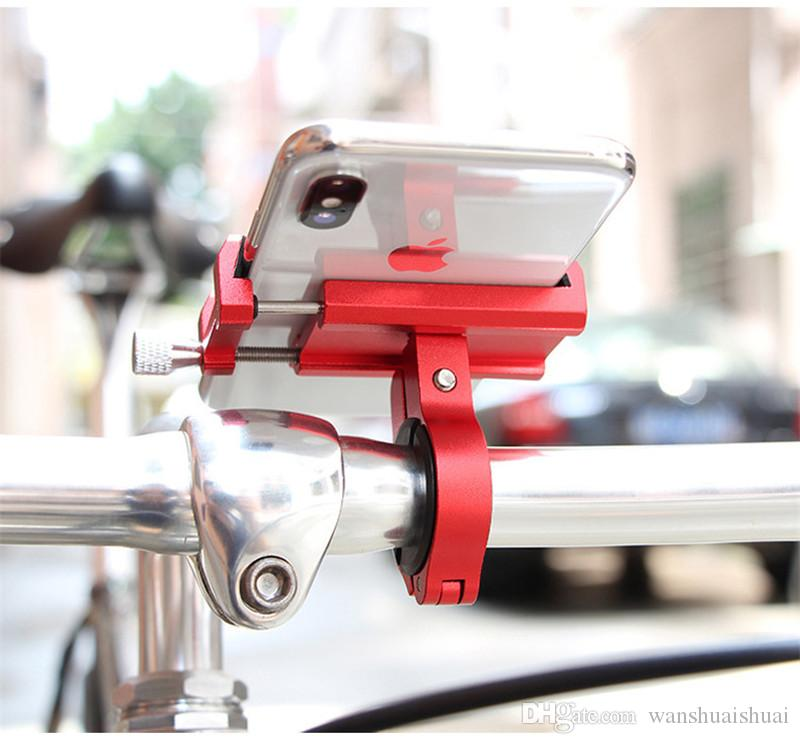 Aluminum Bicycle Phone Holder For 3.5-6.2 inch Smartphone Adjustable Support GPS Bike Phone Stand Mount Bracket