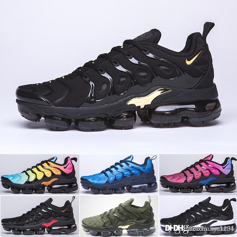 new Persian Violet TN Plus Shoes Men Women Designer Shoes 2019 Photo Blue Bumblebee Sunset White Black Sport Sneakers 5-11 B954