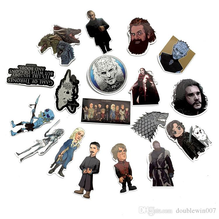 50set 61Pcs/Lot Waterproof Game of Thrones PVC Stickers For Suitcase Laptop Motorcycle Skateboard Luggage Decal Kids Toy DIY Sticker by win7