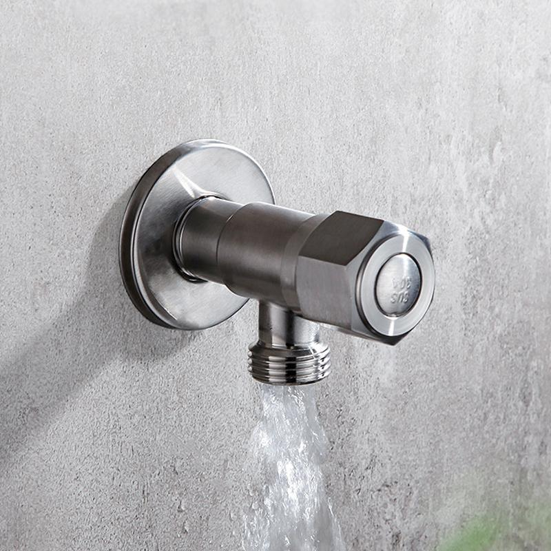 304 из нержавеющей стали 1/4 угол поворота клапана правый угол штока клапана адаптер холодной и горячей воды Сгущение Triangle клапан Туалет взрывозащищенный