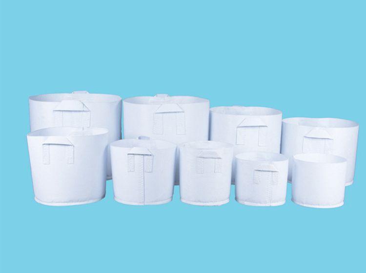 Ambiente Tessuto non tessuto riutilizzabile soft-sided Pots crescere altamente traspirante Piantare borsa con manici grande Planter Fiore