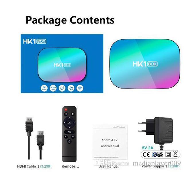 HK1 Box Amlogic S905X3 Smart TV Наклейка Android 9.0 LAN BT4.0 2.4G5G WiFi YouTube NEF1X Media Player