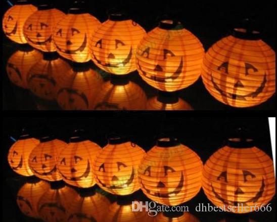 هالوين هالوين اليقطين العنكبوت شبح الخفافيش ورقة فانوس مصباح الديكور ضوء للحزب عطلة الديكور الساخن بيع