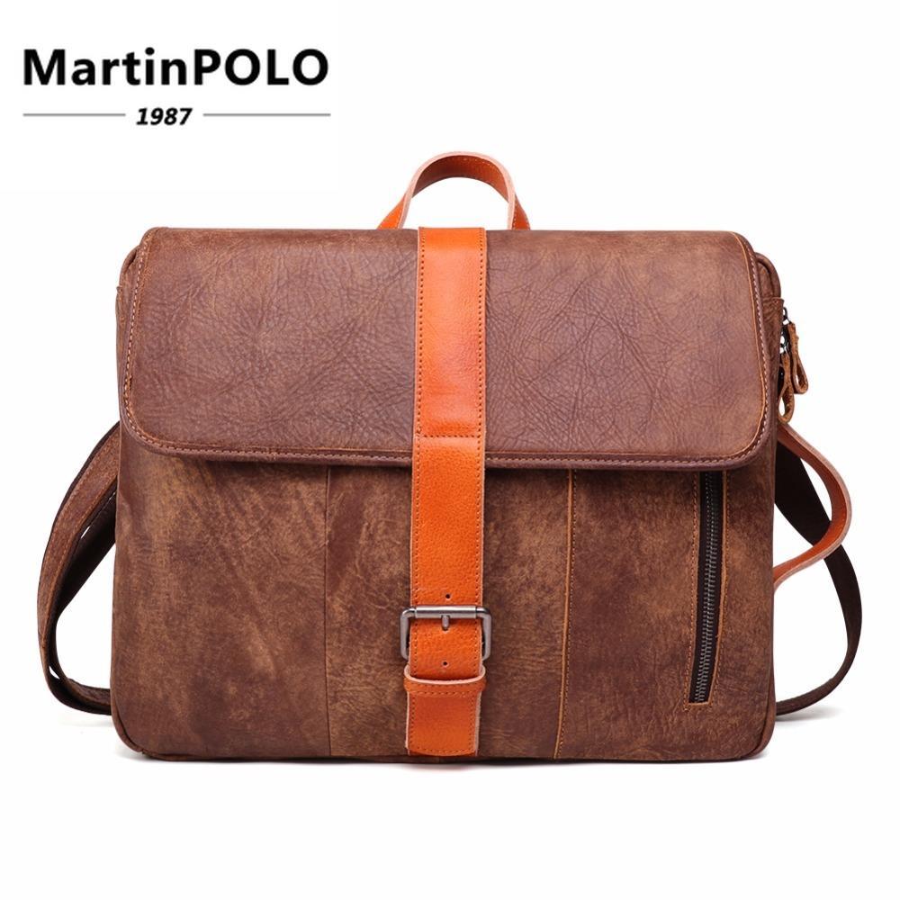 outlet limited price exquisite style Genuine Leather Shoulder Messenger Bag Men'S Handbag Vintage Crossbody  Satchel Bag Tote Business Men'S 14 Inch Laptop 6428 Designer Handbags On  Sale ...